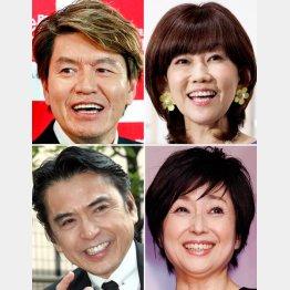 (左上から時計回りに)ヒロミ&松本伊代夫妻、竹下景子、志垣太郎