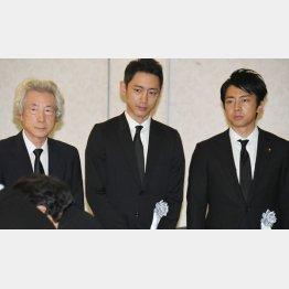 3人が勢揃い(左から小泉純一郎元首相、孝太郎氏、進次郎氏)/(C)日刊ゲンダイ