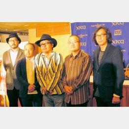 (写真左から)塩田明彦氏、白石和彌氏、園子温氏、中田秀夫氏、行定勲氏