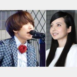 川谷絵音(左)とベッキー/(C)日刊ゲンダイ