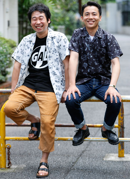 エミアビの前野朋哉(左)と森岡龍/(C)日刊ゲンダイ