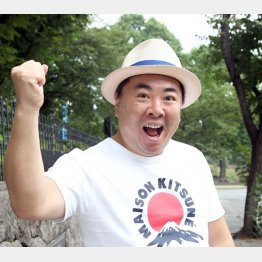 「僕は幸せ者」と塚地さん(C)日刊ゲンダイ