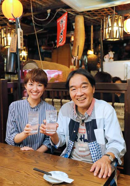 きたろう(右)と西島まどかアナ/(C)日刊ゲンダイ
