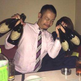 高級シャンパンでアピール