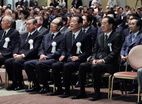 多くの著名人が出席した(C)日刊ゲンダイ