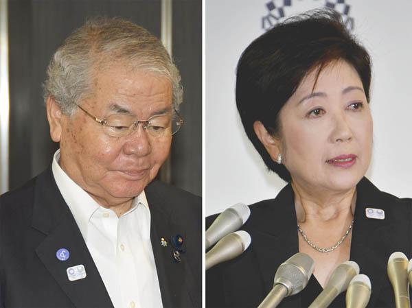 内田茂前幹事長(左)はやられっぱなし(C)日刊ゲンダイ