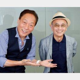 桂米助(左)と聞き手・吉川潮/(C)日刊ゲンダイ