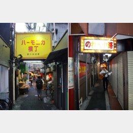 こちらはちょいと有名な横丁のひとつ(左)/(C)日刊ゲンダイ