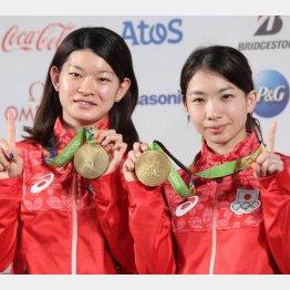 リオ五輪で金メダルの高橋・松友ペア(C)真野慎也