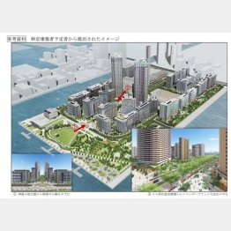 東京五輪晴海選手村のイメージ図(提供写真)