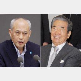 舛添前知事(左)と石原慎太郎元知事