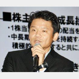 ヤフーの宮坂社長が社員を前に導入検討を話した(C)日刊ゲンダイ