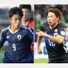15歳の久保建英(左)と21歳の浅野拓磨/(C)Norio ROKUKAWA/Office La Stradada