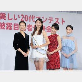 左から二人目が是永瞳(C)日刊ゲンダイ