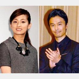 漱石役の長谷川博己と妻役の尾野真千子(C)日刊ゲンダイ