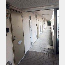 暴行現場になった福島容疑者の住むアパート(町田市)/(C)日刊ゲンダイ