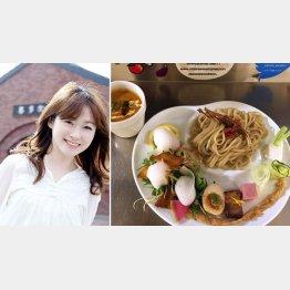 本谷亜紀氏と「麺や 庄のgotsubo」の「ベジつけめん」