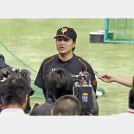 CSへ抱負を語った高橋監督(C)日刊ゲンダイ