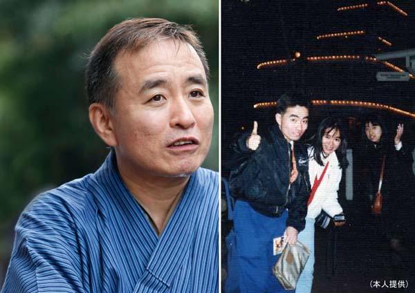 立川談慶さん(右は、ワコールの同僚と)/(C)日刊ゲンダイ