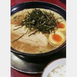じゃぐらの「濃厚魚介豚骨味噌ラーメン&味玉トッピング」/(C)日刊ゲンダイ