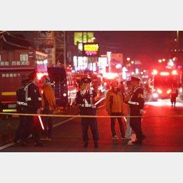 都心の停電を起こした新座市の火災現場(C)日刊ゲンダイ