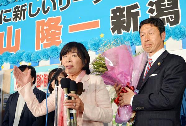 2連勝(左は森ゆうこ参院議員)/(C)日刊ゲンダイ