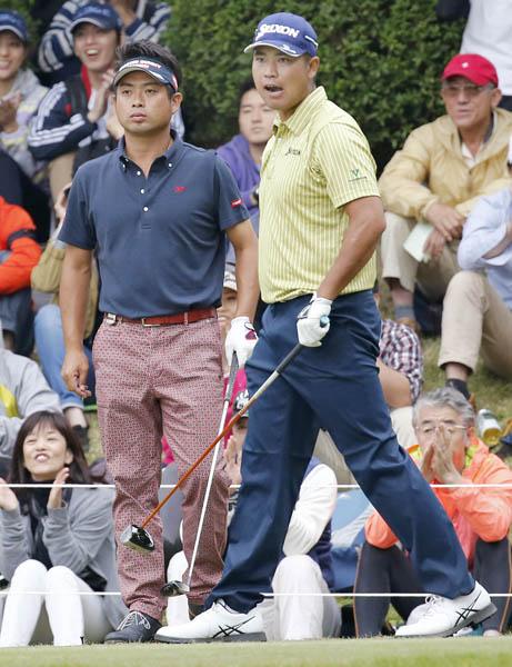 日本ツアー賞金トップの池田勇太(左)も松山英樹に完敗(C)日刊ゲンダイ
