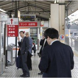 スパンクリートは駅のホームや柵にも使われている(C)日刊ゲンダイ