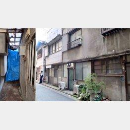 すべて高橋さん所有の土地で一番奥が自宅だった(左は遺体発見現場)/(C)日刊ゲンダイ