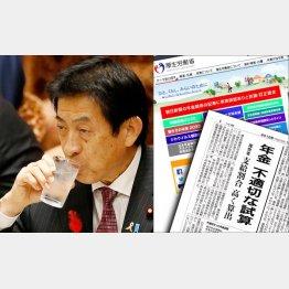 塩崎厚労相は「引き続き議論していく」とシドロモドロ(C)日刊ゲンダイ