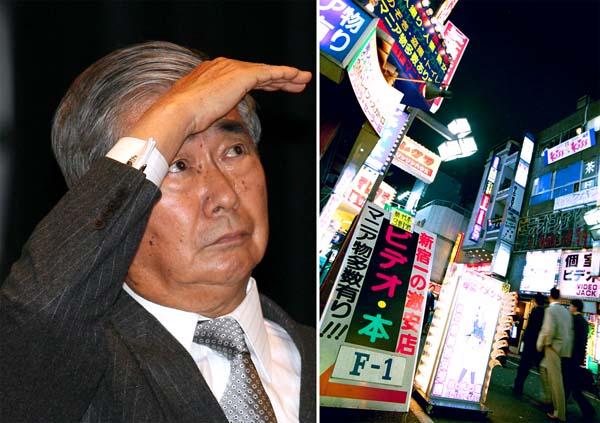 03年末には自ら歌舞伎町も視察した(C)日刊ゲンダイ