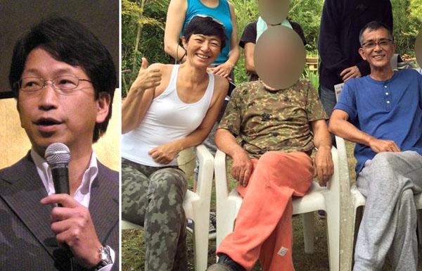平将明前内閣府副大臣(左) 高樹容疑者と森山容疑者(右・森山のフェイスブックから)