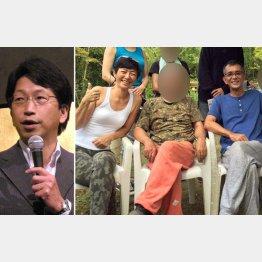 平将明前内閣府副大臣(左) 高樹容疑者と森山容疑者
