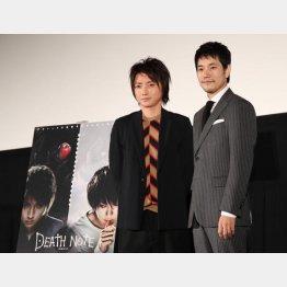 24日の公開記念イベントには前作の主人公2人(藤原竜也、松山ケンイチ)が登場して大歓声だったが…(C)日刊ゲンダイ