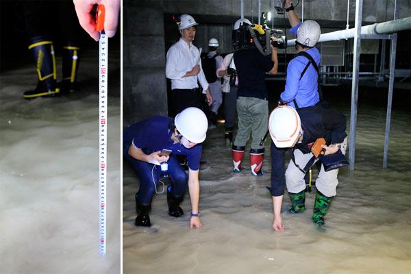 9月の地下空間の調査(C)日刊ゲンダイ
