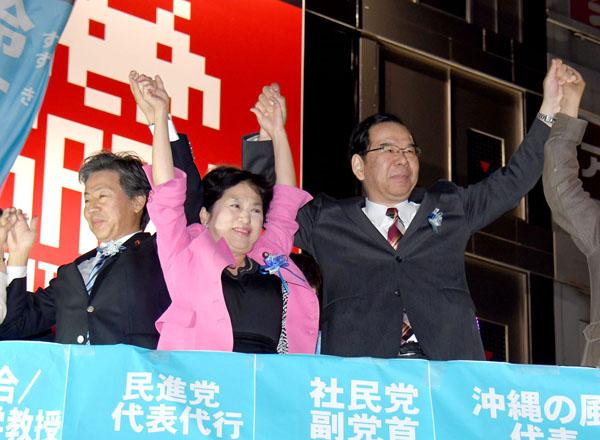東京10区補選の街頭演説に鈴木候補の姿なし/(C)日刊ゲンダイ
