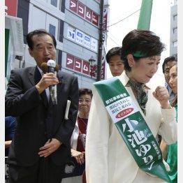 豊島区の河原区議は都知事選で精力的に小池氏を支持(C)日刊ゲンダイ