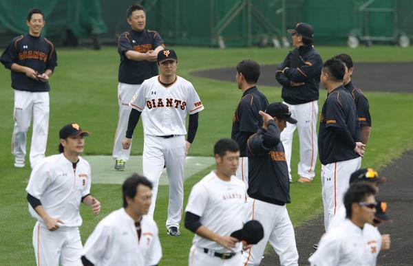 2015年巨人秋季キャンプの様子(C)日刊ゲンダイ
