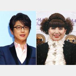 一番目立っていた及川光博(左)と進行役の黒柳徹子