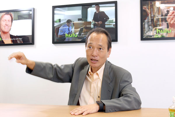 Huluの船越雅史副社長(C)日刊ゲンダイ