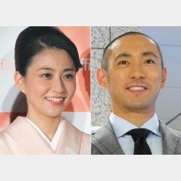 小林麻央と市川海老蔵(C)日刊ゲンダイ