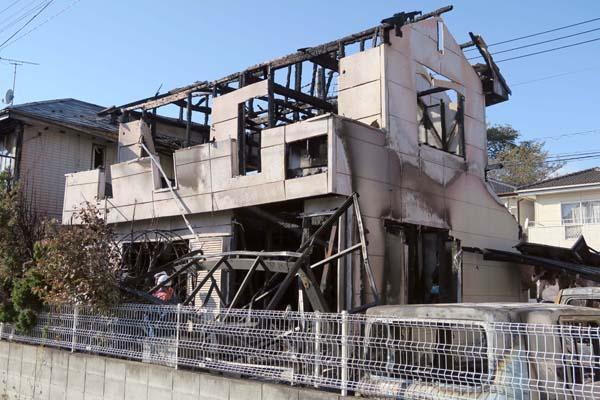 宇都宮市連続爆破事件で全焼した栗原敏勝容疑者の自宅(C)日刊ゲンダイ