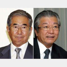 浜渦武生氏(右)を秘書から副知事に抜擢/(C)日刊ゲンダイ