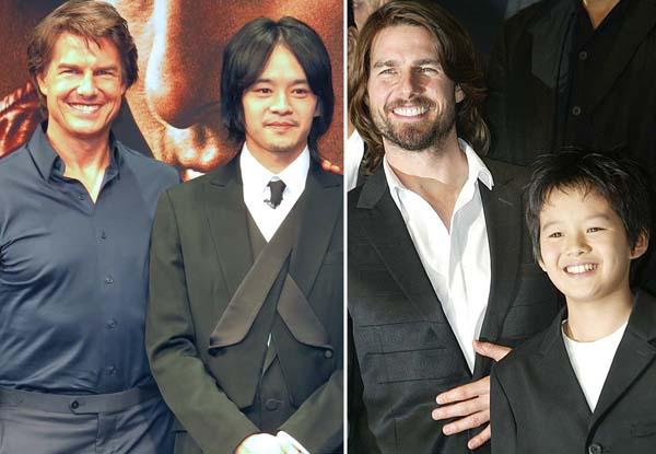 池松壮亮とトム・クルーズ(右は03年の「ラストサムライ」公開当時)/(C)日刊ゲンダイ