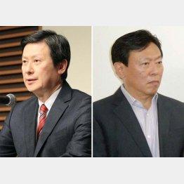 長男・宏之氏(左)と次男・昭夫氏/(C)日刊ゲンダイ