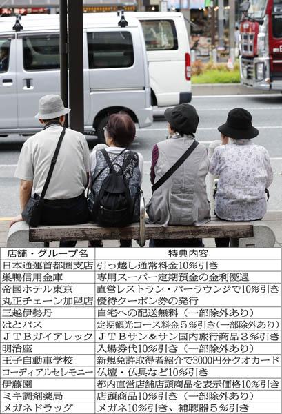 高齢者運転免許自主返納で受けられる都内の特典一例(C)日刊ゲンダイ