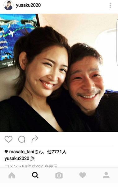 紗栄子と「ZOZOTOWN」の前澤氏(インスタグラムから)