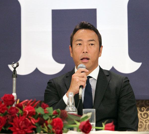 広島・黒田投手の引退会見(C)日刊ゲンダイ