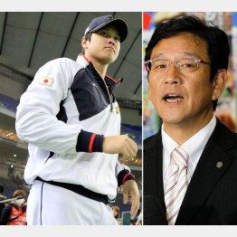 先の強化試合でも大活躍の大谷、右は栗山監督(C)日刊ゲンダイ