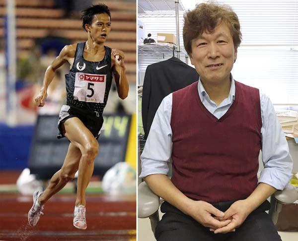 「東京五輪はマラソンで」と宣言した大迫(左)と鈴木良雄順大大学院教授(C)日刊ゲンダイ
